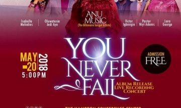 YOU NEVER FAIL Album Release Live Recording Concert